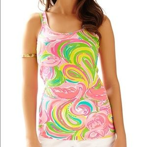 PRINTED TABBIE TANK TOP